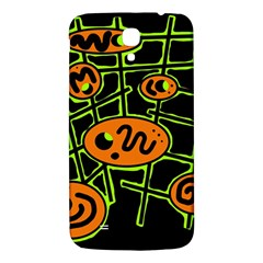 Orange And Green Abstraction Samsung Galaxy Mega I9200 Hardshell Back Case by Valentinaart