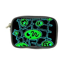 Green And Blue Abstraction Coin Purse by Valentinaart