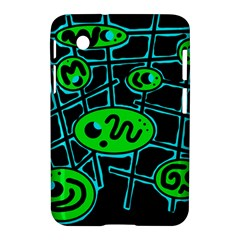 Green And Blue Abstraction Samsung Galaxy Tab 2 (7 ) P3100 Hardshell Case