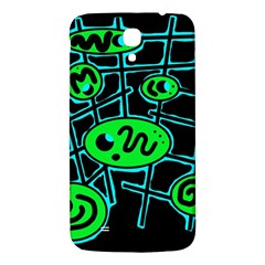 Green And Blue Abstraction Samsung Galaxy Mega I9200 Hardshell Back Case by Valentinaart