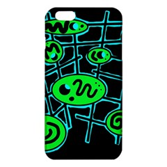 Green And Blue Abstraction Iphone 6 Plus/6s Plus Tpu Case by Valentinaart