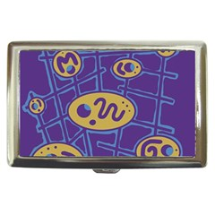 Purple And Yellow Abstraction Cigarette Money Cases by Valentinaart