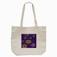 Purple And Yellow Abstraction Tote Bag (cream) by Valentinaart