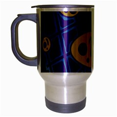 Purple And Yellow Abstraction Travel Mug (silver Gray) by Valentinaart