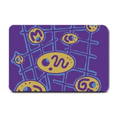 Purple And Yellow Abstraction Small Doormat  by Valentinaart