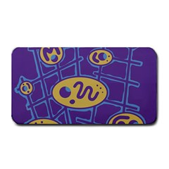 Purple And Yellow Abstraction Medium Bar Mats by Valentinaart