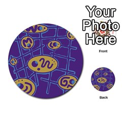 Purple And Yellow Abstraction Multi Purpose Cards (round)  by Valentinaart