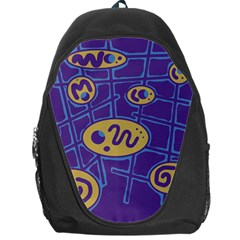 Purple And Yellow Abstraction Backpack Bag by Valentinaart