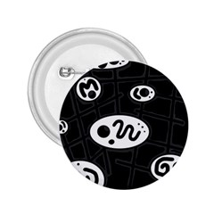 Black And White Crazy Abstraction  2 25  Buttons