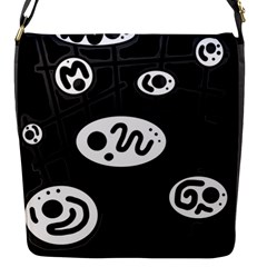 Black And White Crazy Abstraction  Flap Messenger Bag (s)