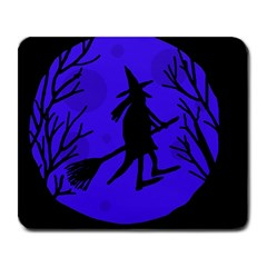 Halloween Witch   Blue Moon Large Mousepads by Valentinaart