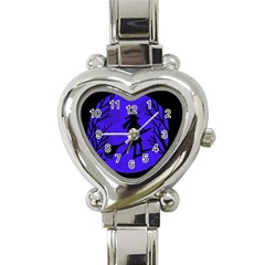 Halloween Witch   Blue Moon Heart Italian Charm Watch by Valentinaart