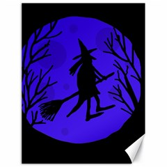 Halloween Witch   Blue Moon Canvas 18  X 24   by Valentinaart