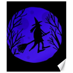 Halloween Witch   Blue Moon Canvas 20  X 24   by Valentinaart