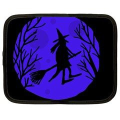 Halloween Witch   Blue Moon Netbook Case (large) by Valentinaart