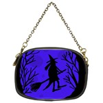 Halloween witch - blue moon Chain Purses (Two Sides)  Back
