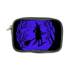 Halloween Witch   Blue Moon Coin Purse by Valentinaart