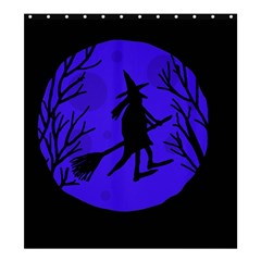 Halloween Witch   Blue Moon Shower Curtain 66  X 72  (large)  by Valentinaart