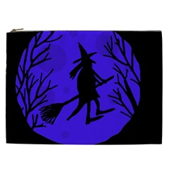 Halloween Witch   Blue Moon Cosmetic Bag (xxl)  by Valentinaart