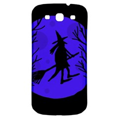 Halloween Witch   Blue Moon Samsung Galaxy S3 S Iii Classic Hardshell Back Case by Valentinaart
