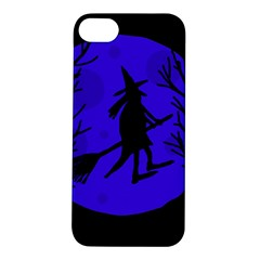 Halloween Witch   Blue Moon Apple Iphone 5s/ Se Hardshell Case by Valentinaart