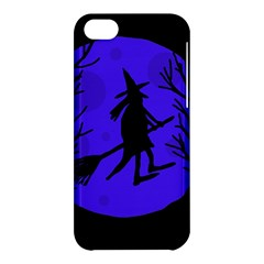Halloween Witch   Blue Moon Apple Iphone 5c Hardshell Case by Valentinaart