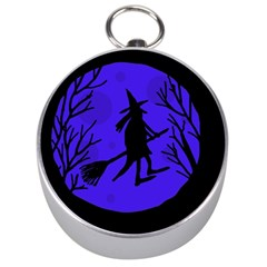 Halloween Witch   Blue Moon Silver Compasses by Valentinaart