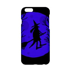 Halloween Witch   Blue Moon Apple Iphone 6/6s Hardshell Case by Valentinaart