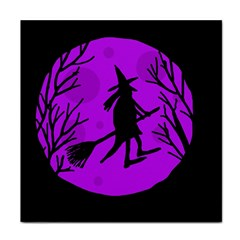 Halloween Witch   Purple Moon Tile Coasters by Valentinaart