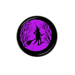 Halloween Witch   Purple Moon Hat Clip Ball Marker (10 Pack) by Valentinaart