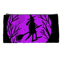 Halloween Witch   Purple Moon Pencil Cases by Valentinaart