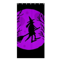 Halloween Witch   Purple Moon Shower Curtain 36  X 72  (stall)  by Valentinaart