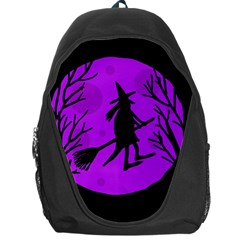 Halloween Witch   Purple Moon Backpack Bag by Valentinaart