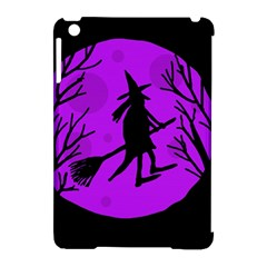 Halloween Witch   Purple Moon Apple Ipad Mini Hardshell Case (compatible With Smart Cover) by Valentinaart