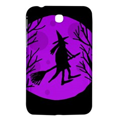 Halloween Witch   Purple Moon Samsung Galaxy Tab 3 (7 ) P3200 Hardshell Case  by Valentinaart