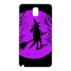 Halloween Witch   Purple Moon Samsung Galaxy Note 3 N9005 Hardshell Back Case by Valentinaart