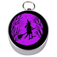 Halloween Witch   Purple Moon Silver Compasses by Valentinaart