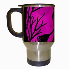 Halloween Witch   Pink Moon Travel Mugs (white) by Valentinaart