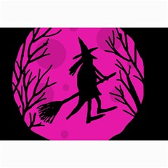 Halloween Witch   Pink Moon Collage Prints