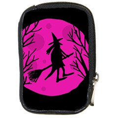 Halloween Witch   Pink Moon Compact Camera Cases