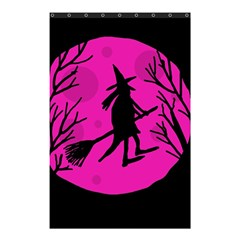 Halloween Witch   Pink Moon Shower Curtain 48  X 72  (small)  by Valentinaart