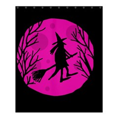 Halloween Witch   Pink Moon Shower Curtain 60  X 72  (medium)  by Valentinaart