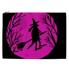Halloween Witch   Pink Moon Cosmetic Bag (xxl)  by Valentinaart