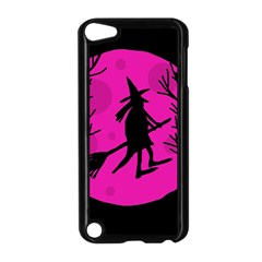 Halloween Witch   Pink Moon Apple Ipod Touch 5 Case (black) by Valentinaart