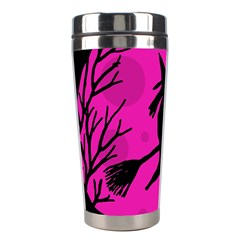 Halloween Witch   Pink Moon Stainless Steel Travel Tumblers