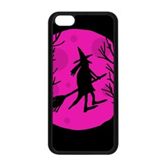 Halloween Witch   Pink Moon Apple Iphone 5c Seamless Case (black) by Valentinaart