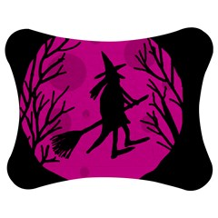 Halloween Witch - Pink Moon Jigsaw Puzzle Photo Stand (bow) by Valentinaart