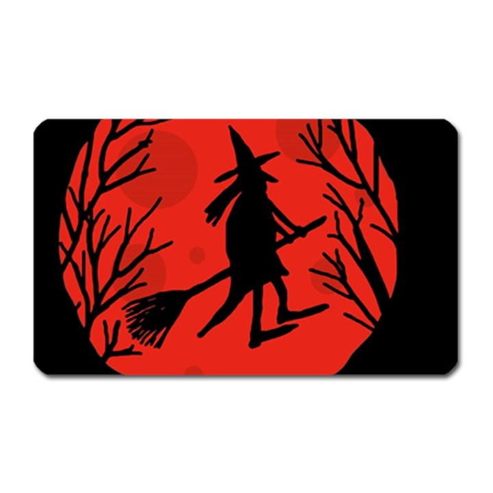Halloween witch - red moon Magnet (Rectangular)