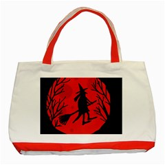Halloween Witch   Red Moon Classic Tote Bag (red) by Valentinaart