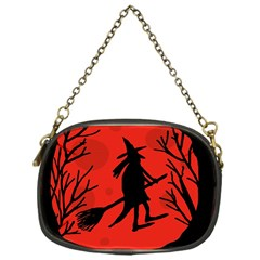 Halloween Witch   Red Moon Chain Purses (one Side)  by Valentinaart